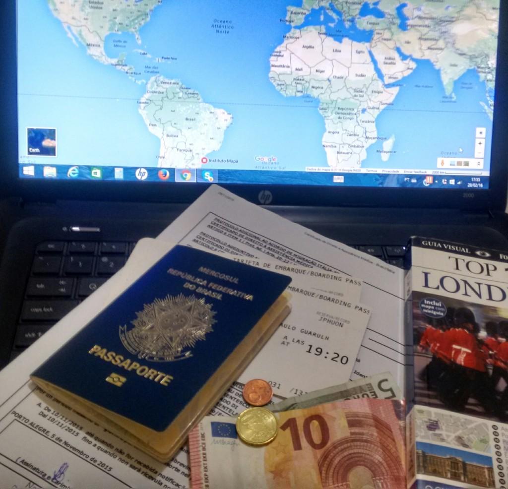 documentação viagem Europa